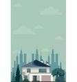 House in spring or summer season vector