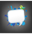 Metal background with speech bubble and bird vector