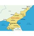 Democratic peoples republic of korea - map vector