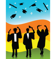 Spring graduates vector