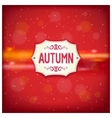 Autumn retro label vector