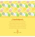 Pineapple background vector