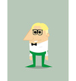 Cartoon nerd vector