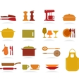 Cute kitchen collection vector
