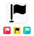 Golf flag icon vector