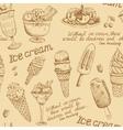 Ice cream vintage pattern vector