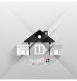 House icon 3d paper design vector