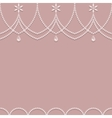 Seamless pearl ornament on a pink background vector