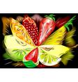 Mix fruit vector