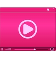 Pink video player icon vector