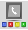 Phone sign icon support symbol call center set vector