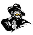American cowboy with revolver gun vector