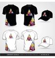 T shirt and cap design template vector