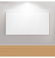 Empty paintings frame on wall vector