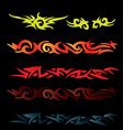 Set of tattoo style elements and grunge backgroun vector