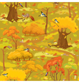 Seamless pattern - autumn forest landscape vector