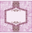 Ornate floral card announcement vector