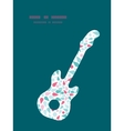 Abstract colorful drops guitar music vector