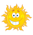 Sun cartoon character vector