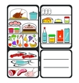 Refrigerator with food vector