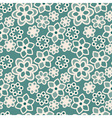 White flower lace on green blue background vector