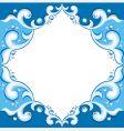 Frame with aqua design vector