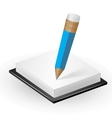 Note paper with pencil vector