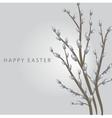 Easter vintage card vector