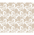 White butterflies seamless lace pattern vector