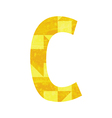 Abstract color alphabet c vector