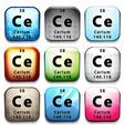 A button showing the element cerium vector