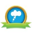 Gold storm logo vector