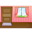 Cartoon home window door vector