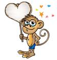 Monkey in love vector
