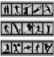 Sport filmstrip scene vector