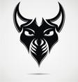 Black evil mask vector