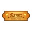 Retro restaurant label vector