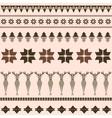 Brown winter ornamental pattern with deer vector