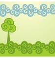 Cartoon trees background vector