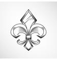 Heraldic lily label vector