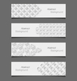 Set of abstract modern style banners vector