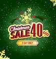 Christmas sale 40 percent typographic background vector