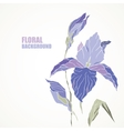 Violet iris card vector