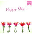 Watercolor beautiful decorative flowers with happy vector