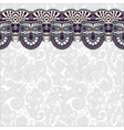 Ornamental background with flower ribbon stripe vector