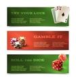 Casino horizontal banners vector