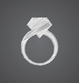 Jewelery ring sketch logo doodle icon vector