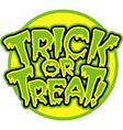 Trick or treat logo vector