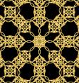 Asian golden pattern on black vector