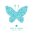 Abstract underwater plants butterfly silhouette vector